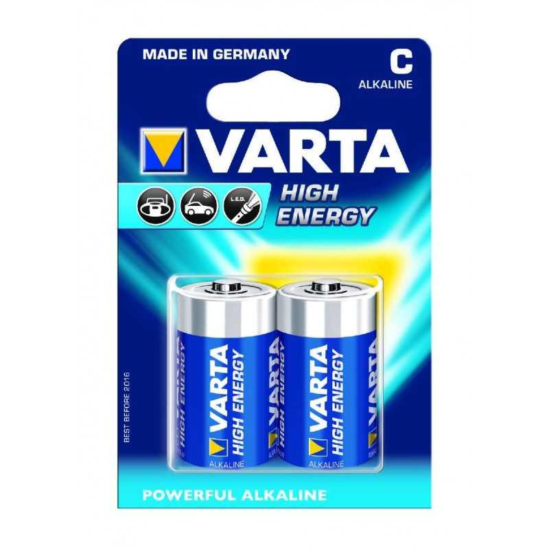 BLISTER X 2 PILES VARTA HIGH ENERGY C / LR14