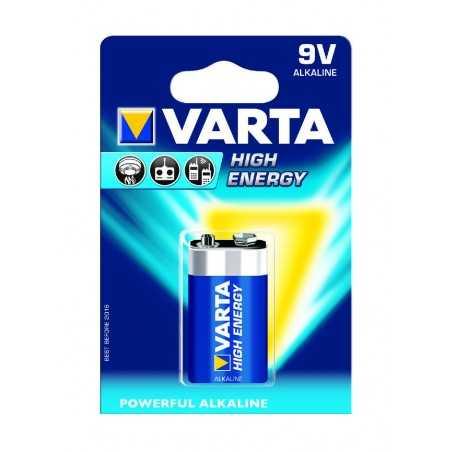 BLISTER X 1 PILE VARTA HIGH ENERGY 9V / 6LR61