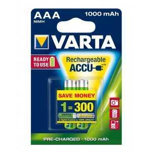 BLISTER X 2 VARTA ACCUS HR3 1000 MAH
