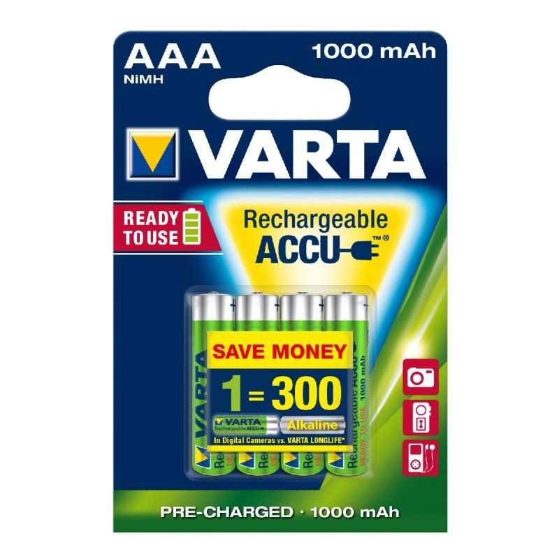 BLISTER X 4 VARTA ACCUS HR3 1000 MAH