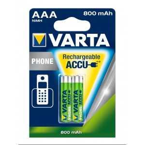 BLISTER X 2 VARTA ACCUS HR03 800MAH