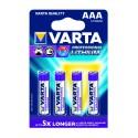 BLISTER X 4 VARTA LITHIUM AAA / LR03