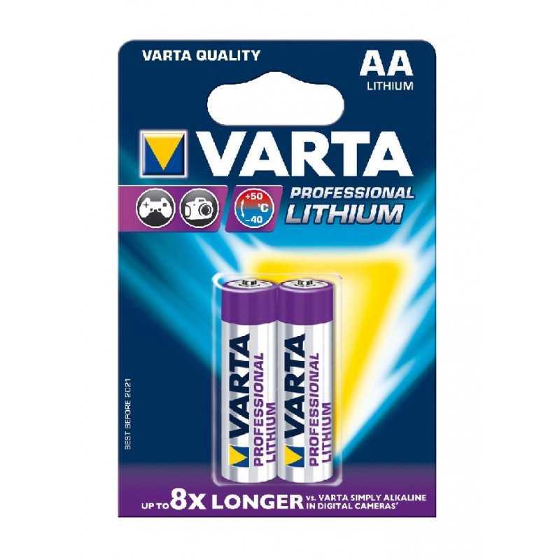 BLISTER X 2 VARTA LITHIUM AA / LR06