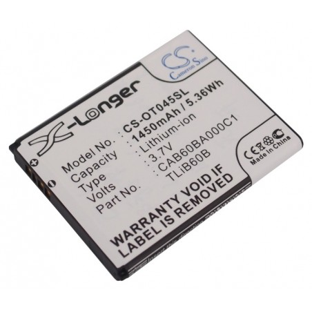 BATTERIE ALCATEL CAB60BA000C1