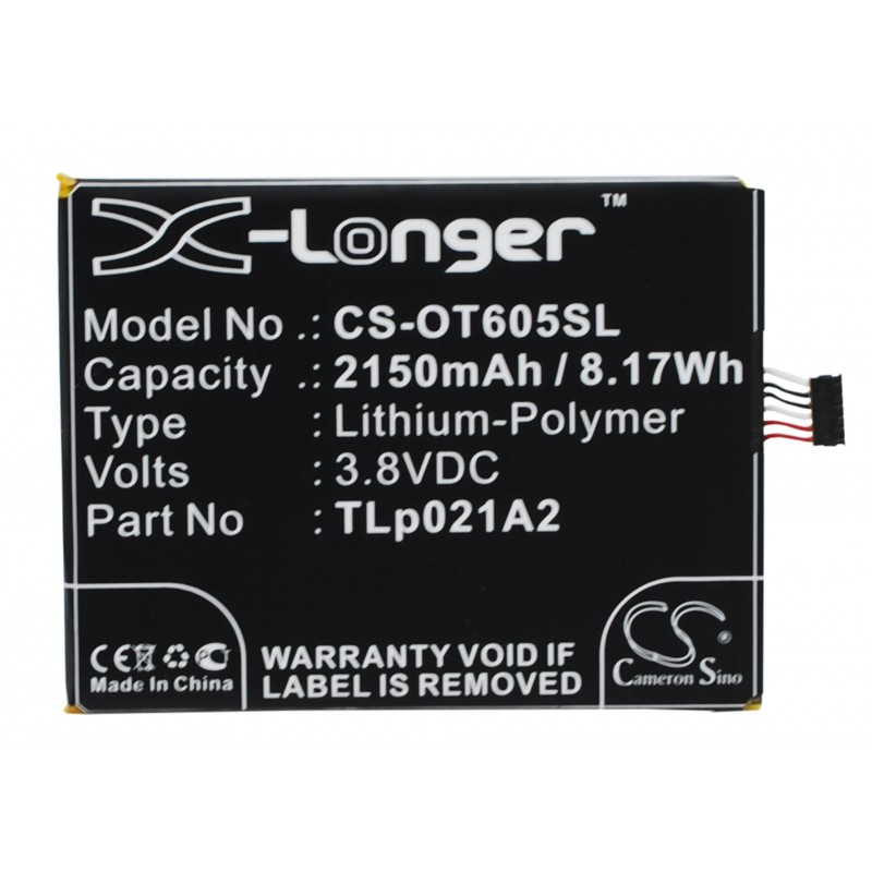 Batterie Alcatel TLp021A2