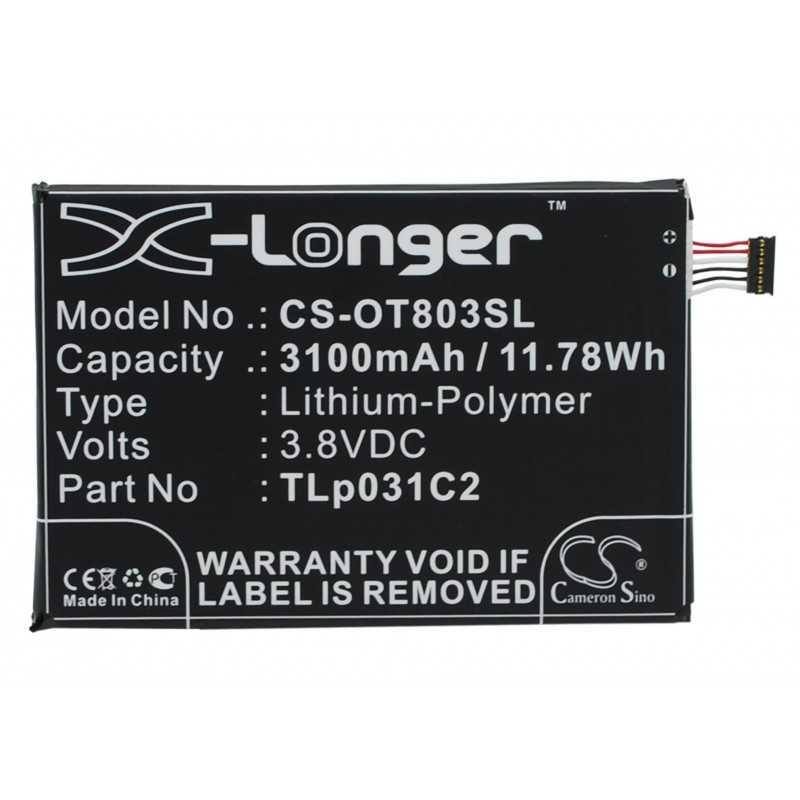 Batterie Alcatel TLp031C2