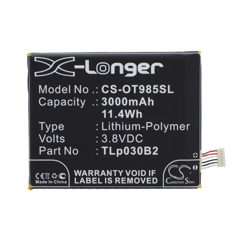Batterie Alcatel TLp030B2