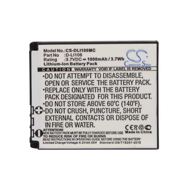 Batterie Pentax D-LI106