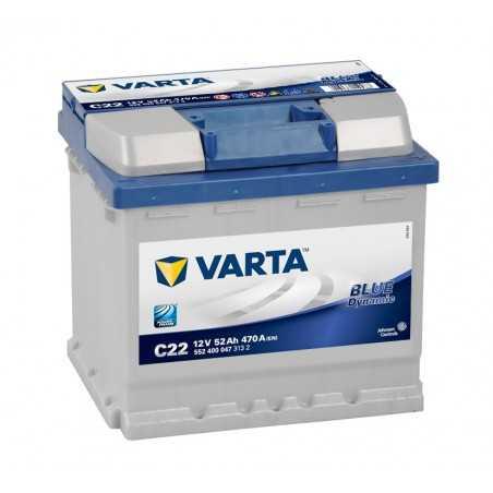BATTERIE VARTA BLUE DYNAMIC C22 12V 52AH 470A