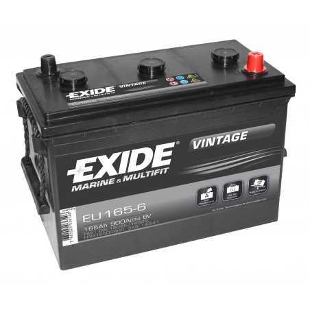 BATTERIE EXIDE VINTAGE 6V 165Ah 900A(EN) M05