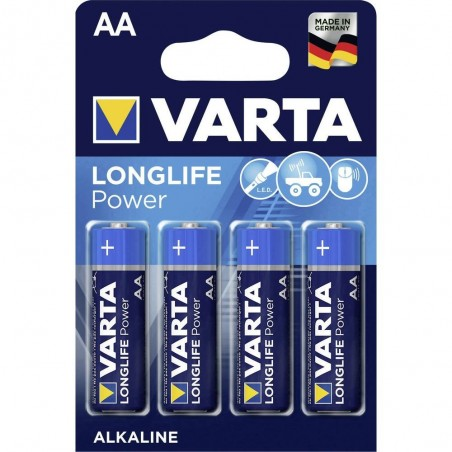 BLISTER X 4 PILES VARTA LONGLIFE POWER AA / LR06
