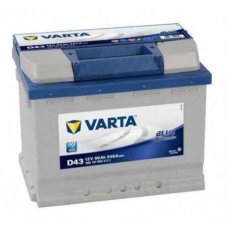 BATTERIE VARTA BLUE DYNAMIC D43 12V 60AH 540A(EN) +G