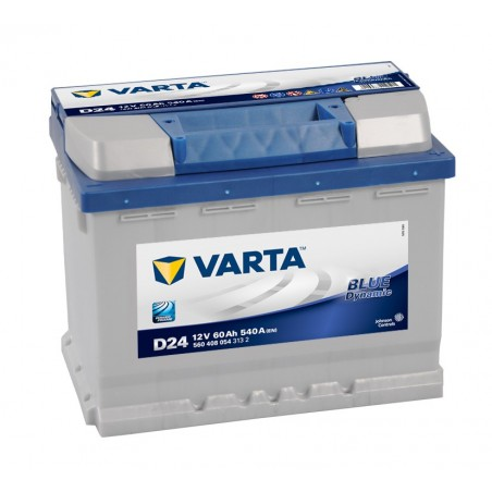 BATTERIE VARTA BLUE DYNAMIC D24 12V 60AH 540A