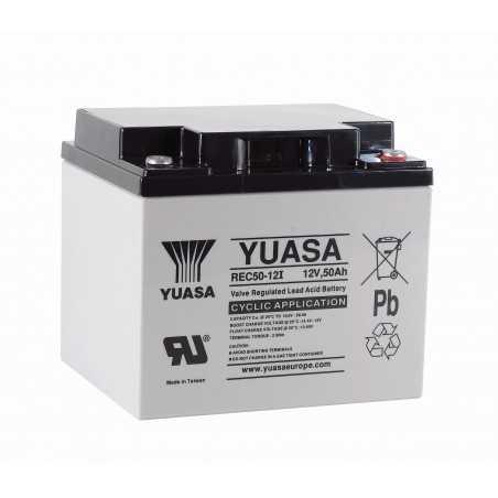 BATTERIE YUASA REC50-12 12V 50AH/C20