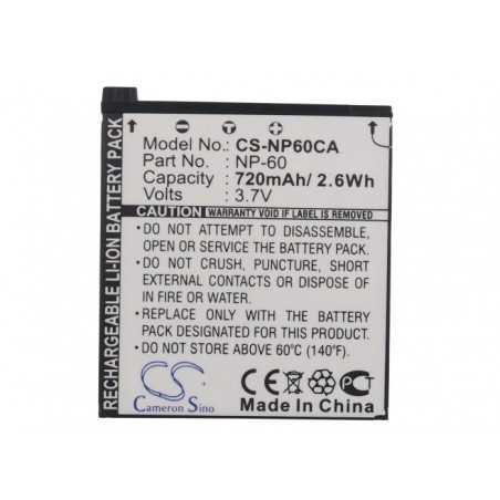 Batterie Casio NP-60