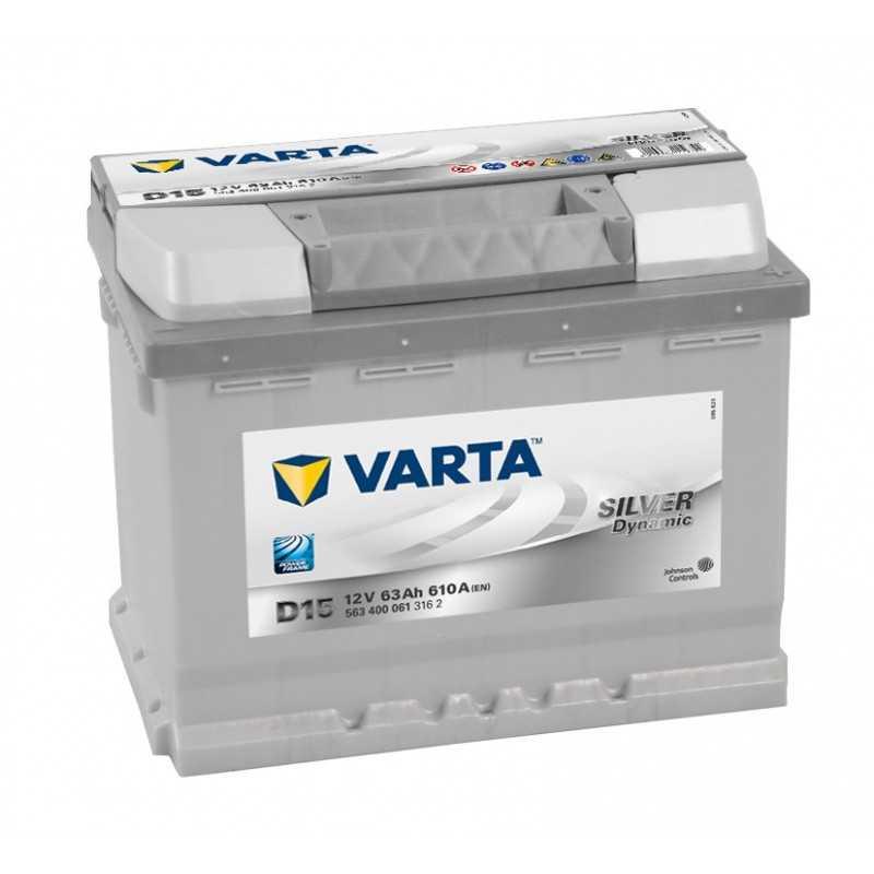 BATTERIE VARTA SILVER DYNAMIC D15 12V 63AH 610A