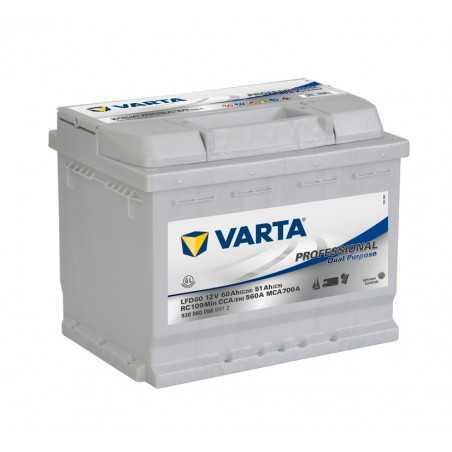 BATTERIE VARTA DECHARGE LENTE 12V 60AH / C20