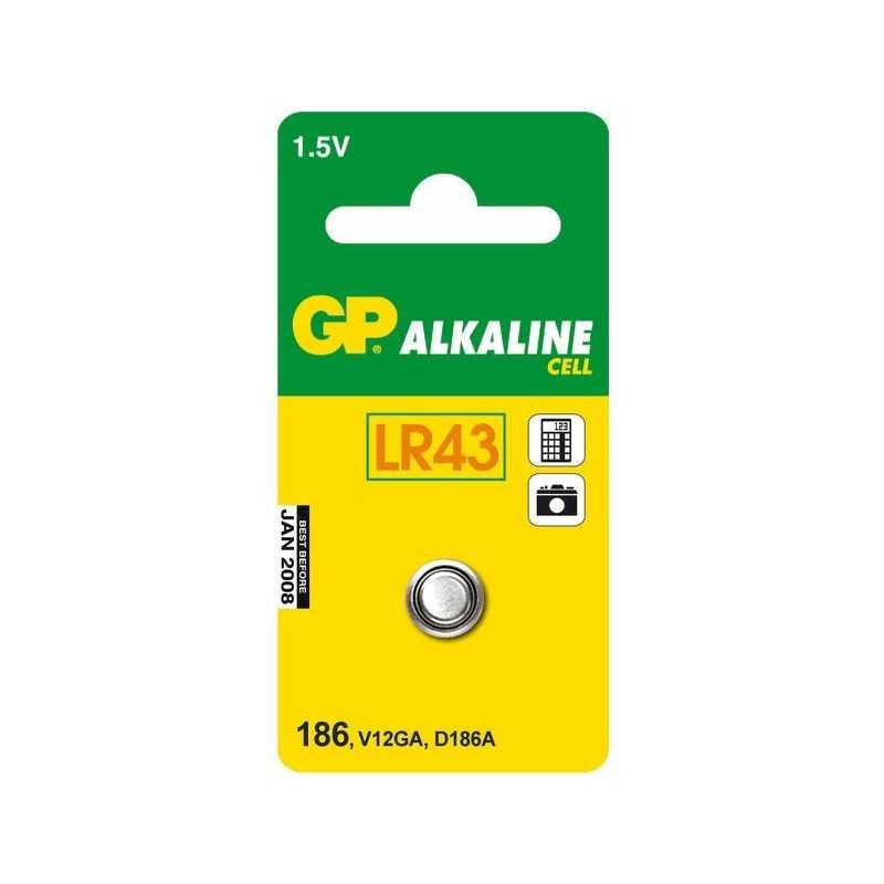 PILE GP 1,5 VOLTS LR43 V12GA