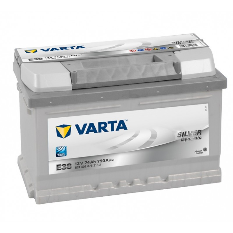 BATTERIE VARTA SILVER DYNAMIC E38 12V 74AH 750A