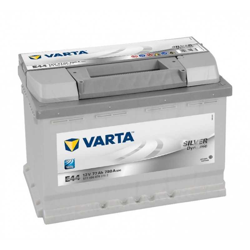 BATTERIE VARTA SILVER DYNAMIC E44 12V 77AH 780A