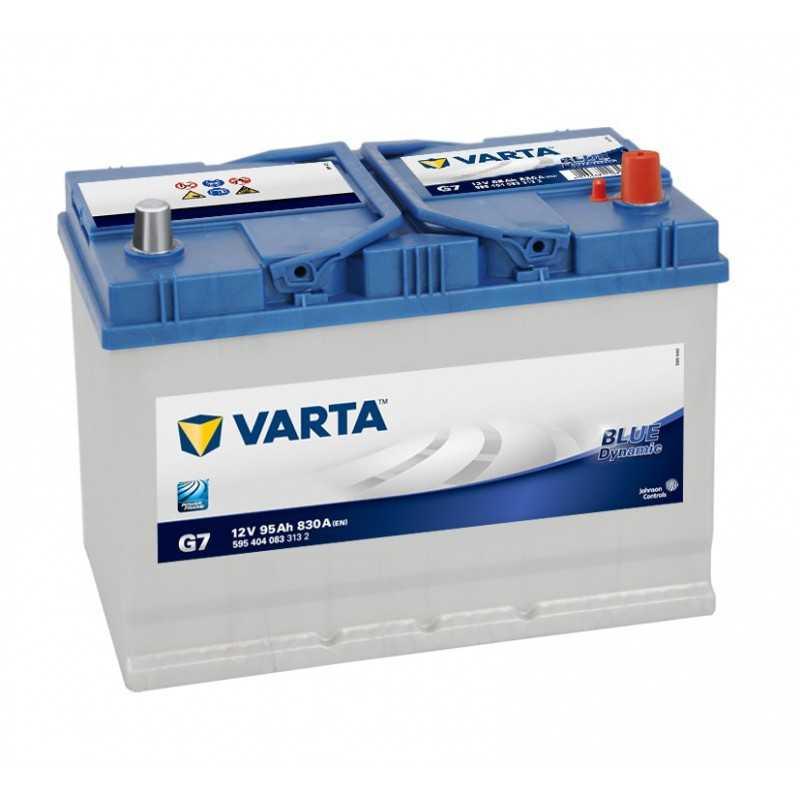 BATTERIE VARTA BLUE DYNAMIC G7 12V 95AH 830A +D