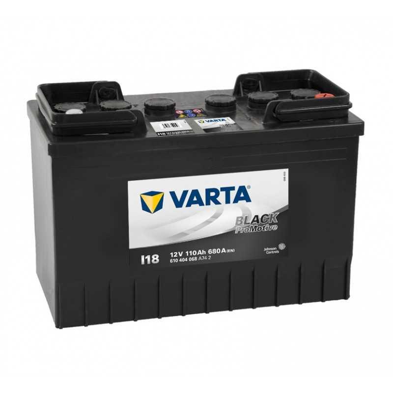 BATTERIE VARTA PROMOTIVE BLACK I18 12V 110AH 680A