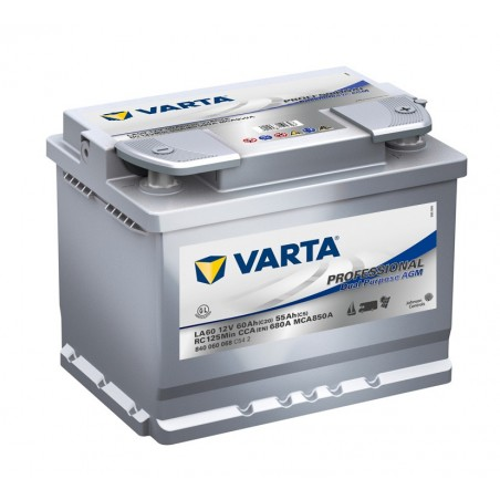 BATTERIE VARTA DECHARGE LENTE AGM 12V 60AH
