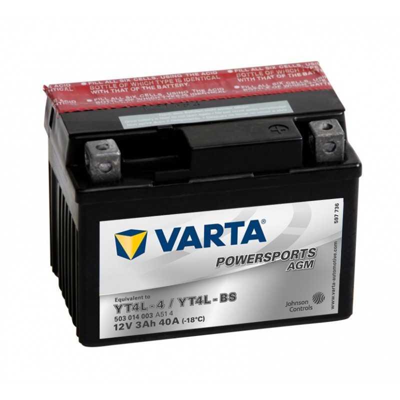 BATTERIE VARTA FUNSTART AGM YTX4LBS