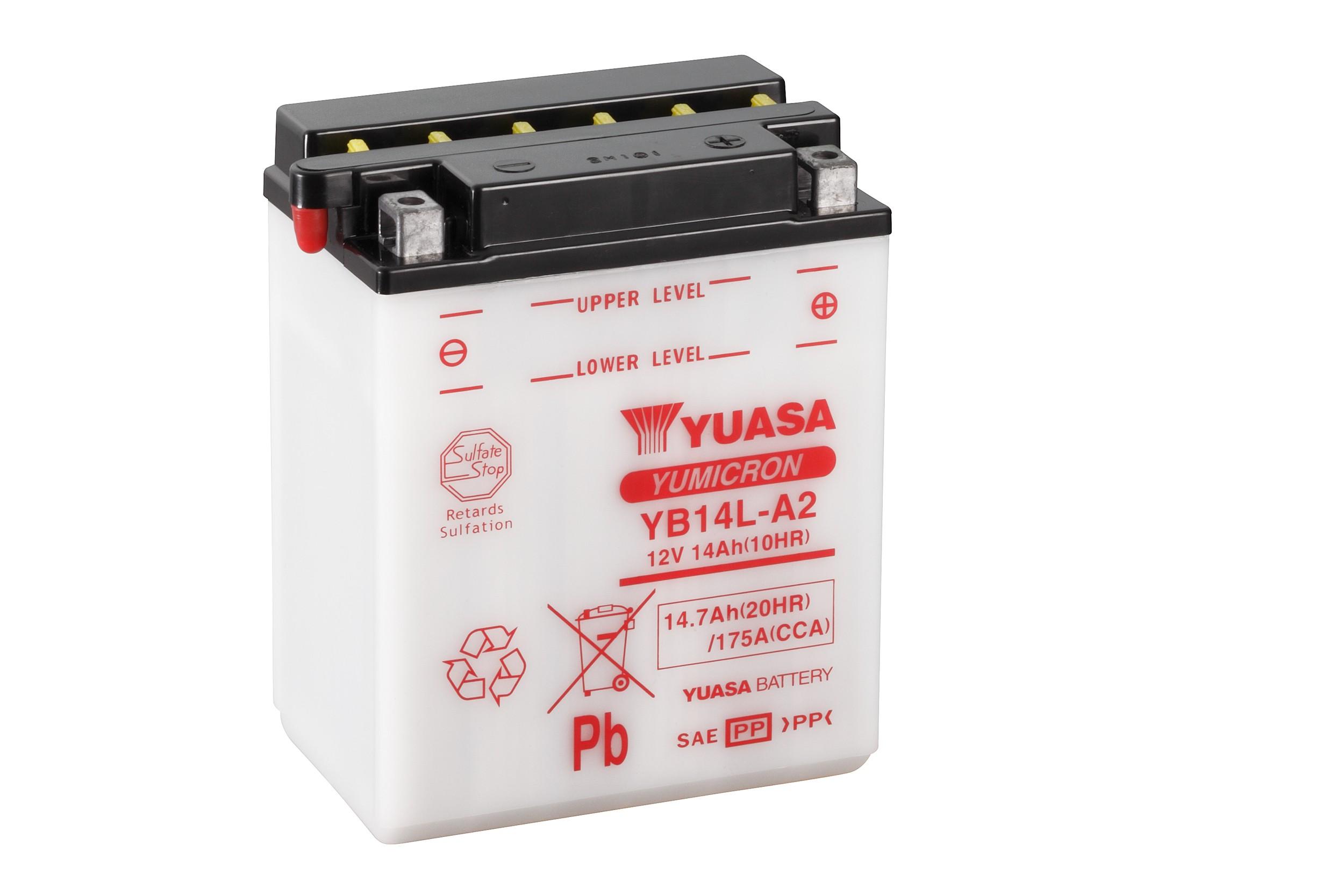 Moto A2 12n14 Batterie Yb14l Batteries73 Yuasa 3a 34R5LAj