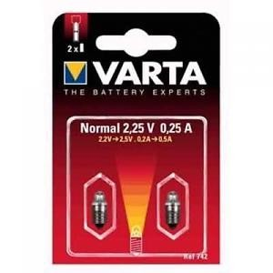 BLISTER 2 AMPOULES VARTA 742 NORMAL