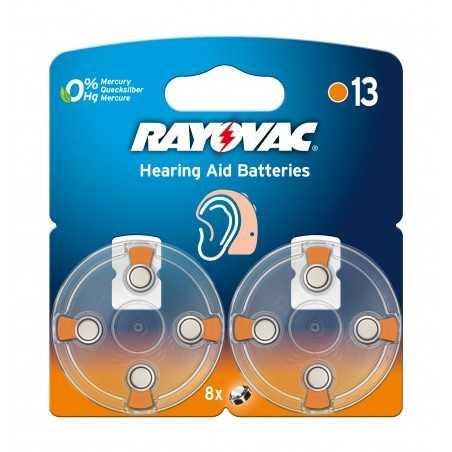 BLISTER 8 PILES RAYOVAC ZINC AIR 1.4 VOLTS REF 13